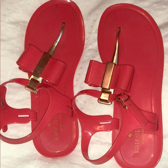 kate spade Shoes - Hot Pink Kate Spade Bow Sandals